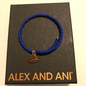 Alex and Ani Blue Beaded Wrap Bracelet